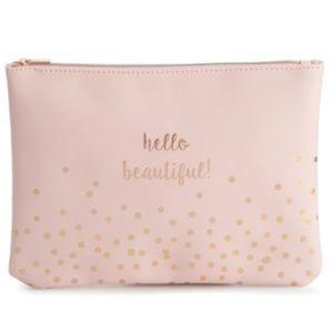 New LC Lauren Conrad Cosmetic Bag in Blush Pink!